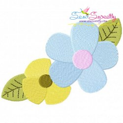 Spring Flowers-2 Embroidery Design
