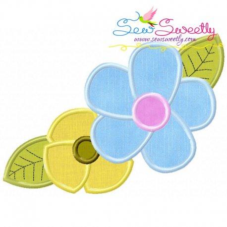 Spring Flowers Applique Design