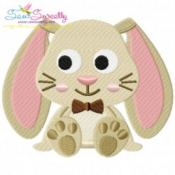 Easter Sitting Bunny Boy Embroidery Design