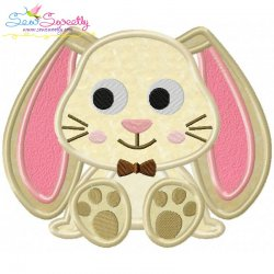 Easter Sitting Bunny Boy Applique Design