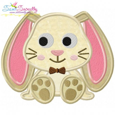 Easter Sitting Bunny Boy Applique Design