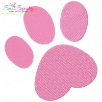 Easter Bunny Paw Print Embroidery Design