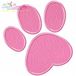 Easter Bunny Paw Print Applique Design
