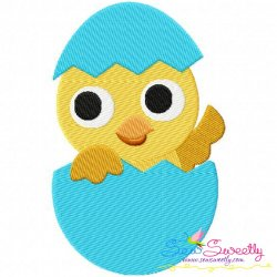 Easter Chick Egg Embroidery Design