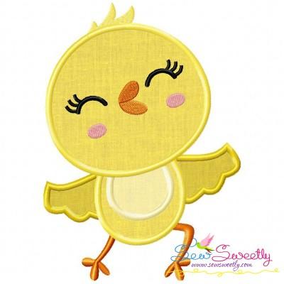 Dancing Chick Applique Design
