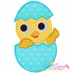 Easter Chick Egg Applique Design