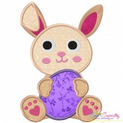 Easter Bunny With Egg-2 Applique Design