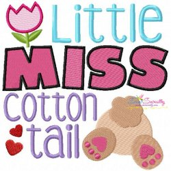 Little Miss Cotton Tail Embroidery Design