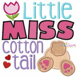 Little Miss Cotton Tail Applique Design