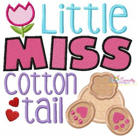 Little Miss Cotton Tail Applique Design