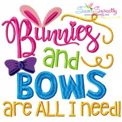 Bunnies And Bows Embroidery Design