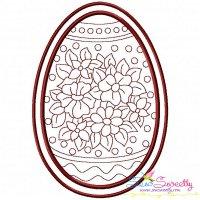 Bean Stitch Artistic Easter Egg-6