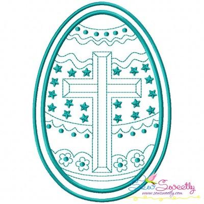 Bean Stitch Artistic Easter Egg-2