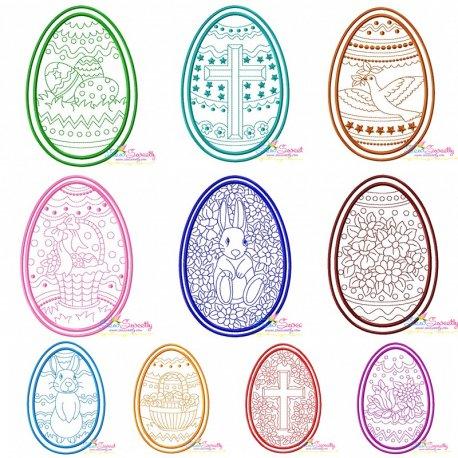 Bean Stitch Artistic Easter Eggs Full Set