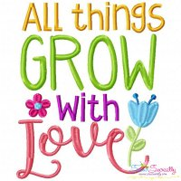 All Things Grow Embroidery Design