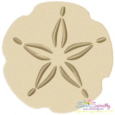 Sand Dollar Embroidery Design