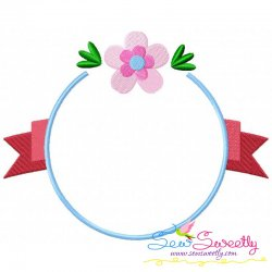 Free Summer Flower Frame-9 Embroidery Design