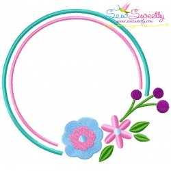 Summer Flower Frame-7 Embroidery Design