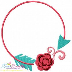 Summer Flower Frame-6 Embroidery Design