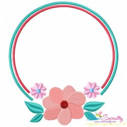 Summer Flower Frame-4 Embroidery Design