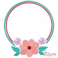 Summer Flower Frame-4 Embroidery Design
