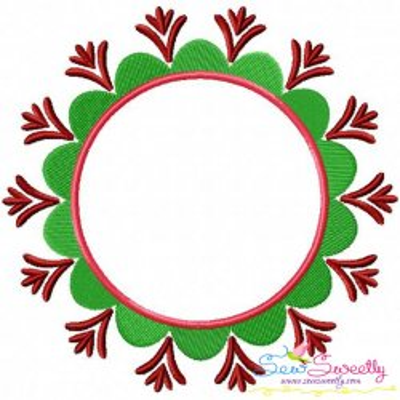 Summer Flower Frame-3 Embroidery Design