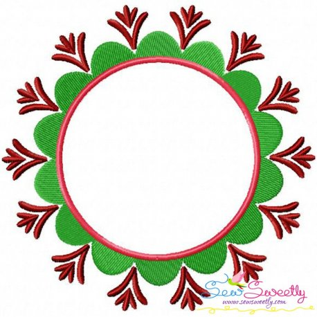 Summer Flower Frame-3 Embroidery Design