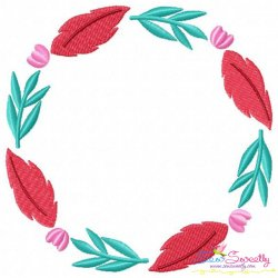 Summer Flower Frame-2 Embroidery Design