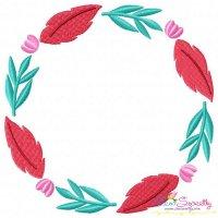 Summer Flower Frame-2 Embroidery Design