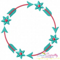 Summer Flower Frame-1 Embroidery Design