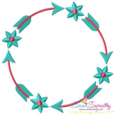 Summer Flower Frame-1 Embroidery Design