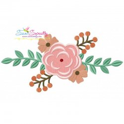 Spring Flowers-3 Embroidery Design