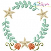 Beach Frame Embroidery Design
