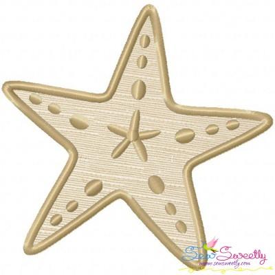 Starfish Applique Design
