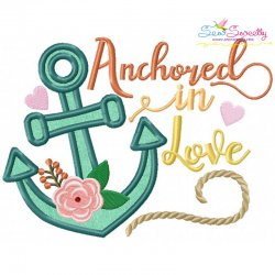 Anchored In Love Applique Design