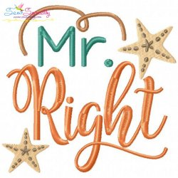 Mr. Right-2 Embroidery Design