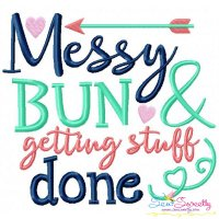 Messy Bun Embroidery Design