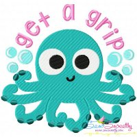 Get a Grip Embroidery Design
