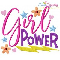 Girl Power Embroidery Design