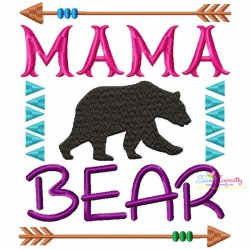 Mama Bear Embroidery Design