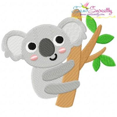 Koala On Branch Embroidery Design