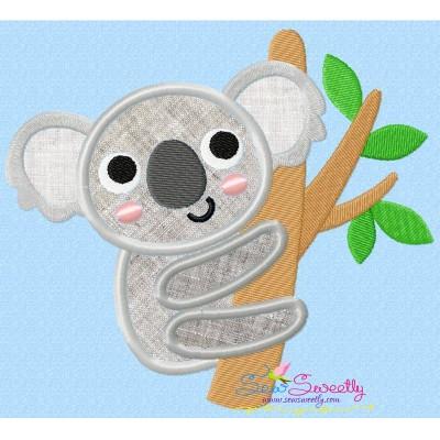 Koala On Branch Applique Design