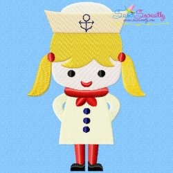 Little Sailor Girl Embroidery Design