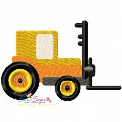 Forklift Embroidery Design
