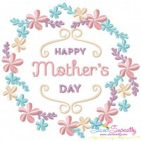 Happy Mother's Day Frame-1 Embroidery Design