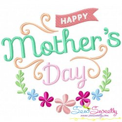 Happy Mother's Day-1 Embroidery Design