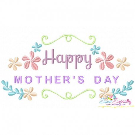 Happy Mother's Day-2 Embroidery Design