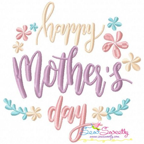 Happy Mother's Day-3 Embroidery Design