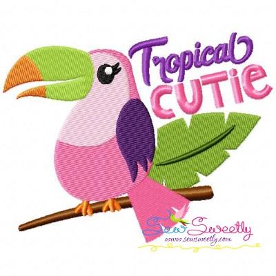 Tropical Cutie Embroidery Design