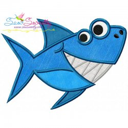 Smiling Shark Applique Design